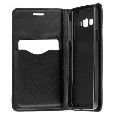 87b9bd46315 Funda de piel libro Premium Samsung Galaxy A7 2018 negro